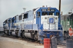 EMDX 9010 - 9058 - 9068 - 9025, Oakway Lease units at Clyde Yard